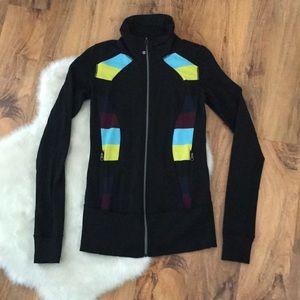 Lululemon In Stride Black Zip Up Jacket size 4